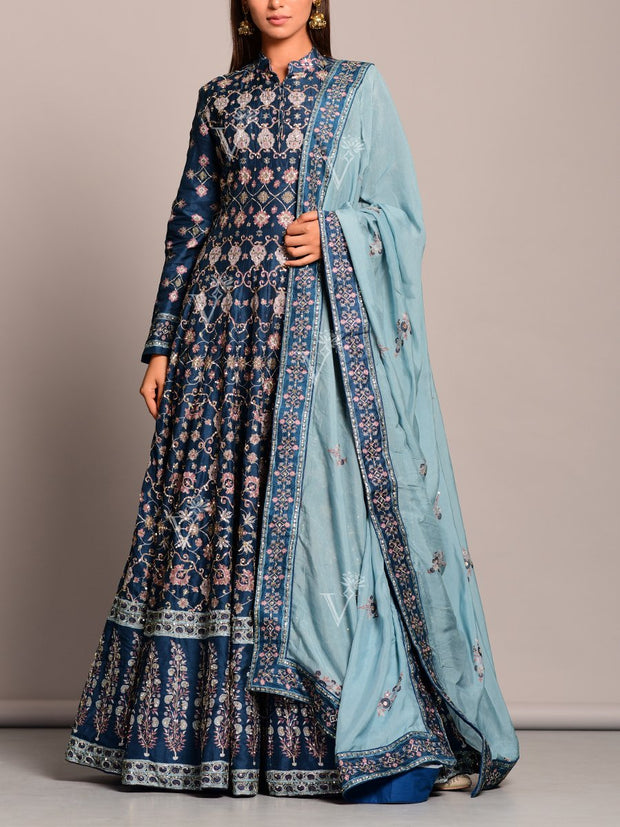 Anarkali, Anarkalis, Gown, Gowns, Printed, Handwork, Highlight, Traditional wear, Traditional outfit, Traditional
