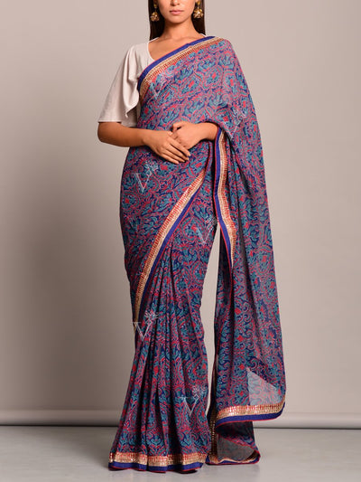 Saree, Sarees, Printed, Georgette, Pure, Causal wear, Regular wear, Traditional wear, Traditional, Traditional outfit