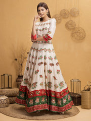 Panetar ReImagined - Gown with Pure Georgette Zari Dupatta