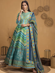 Anarkali, Anarkalis, Gown, Gowns,  Party Wear, Traditional Wear, Silk, Handcrafted, Real Zari, Leheriya, Rajasthani, Jaipuri