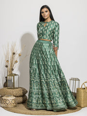 Skirt, Skirt Set, Printed, Lehenga, Silk, Light Weight, Party Wear, Highlighted, Traditional Wear, Traditional Outfit