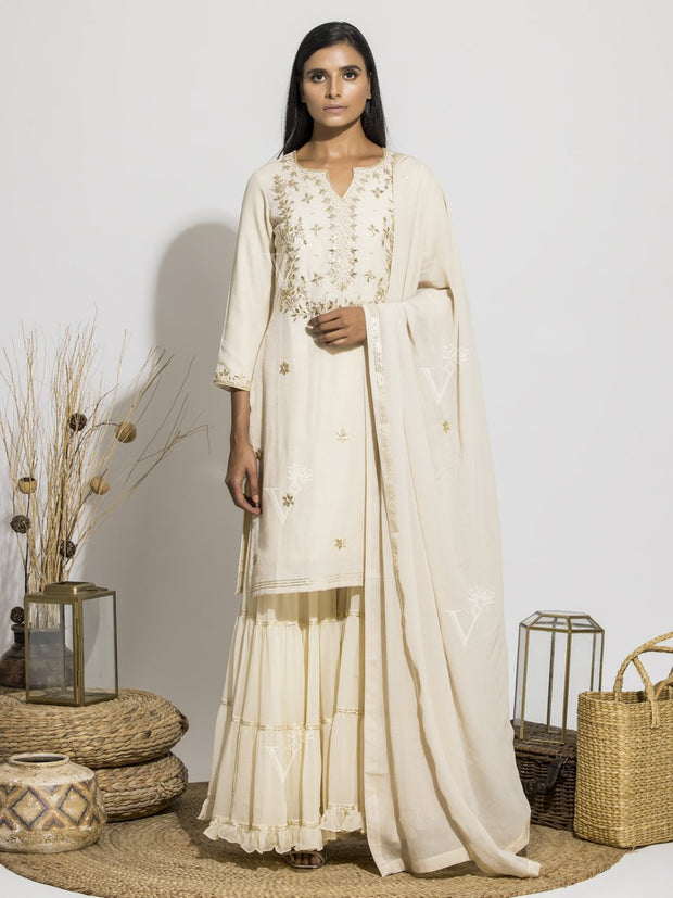 Sharara, Sharara Set, Traditional, Gota Patti, Silk, Georgette, Light Weight, Party Wear