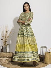 Anarkali, Anarkalis, Gown, Gowns, Party Wear, Traditional Wear, Silk, Printed, Floor Length