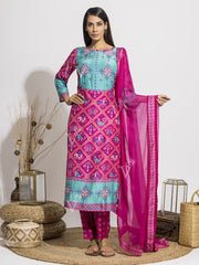 Suit, Suits, Suit Set, Printed, Silk, Chiffon, Highlighted, Regular Wear, Traditional Wear, Traditional Outfit, Patola