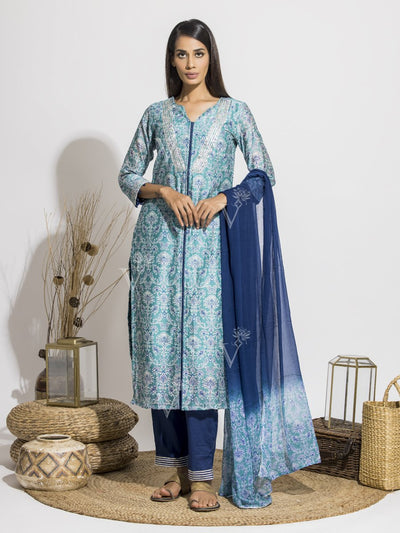 Suit, Suits, Suit Set, Printed, Silk, Chiffon, Highlighted, Regular Wear, Traditional Wear, Traditional Outfit
