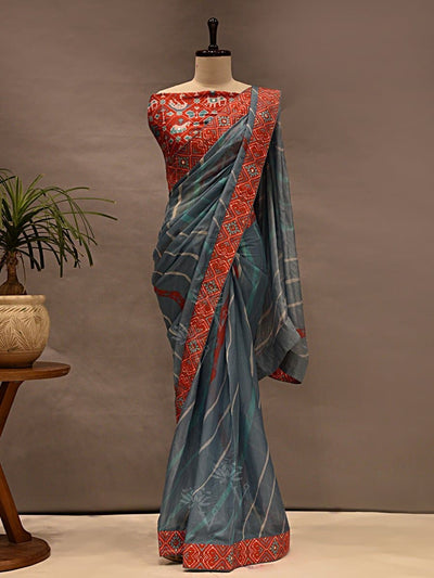 Sarees, Saree, Printed Sarees, Printed Saree, Casual Wear, Daily Wear, Light Wear, Silk Sarees, Prints, Leheriya, Leheriya Saree