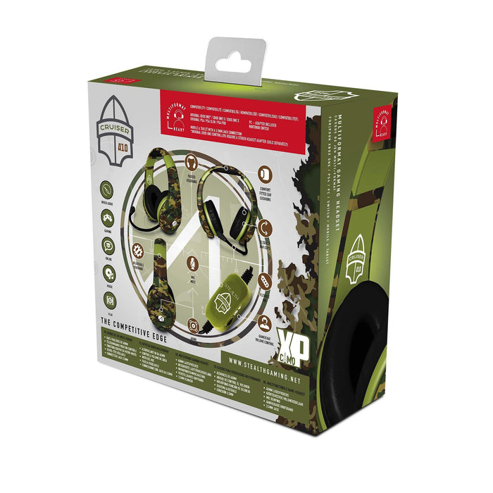 STEALTH XP-Cruiser Stereo Gaming Headset - Woodland Camo (Multi-Format)-Headsets-Bens Toy Chest Ltd