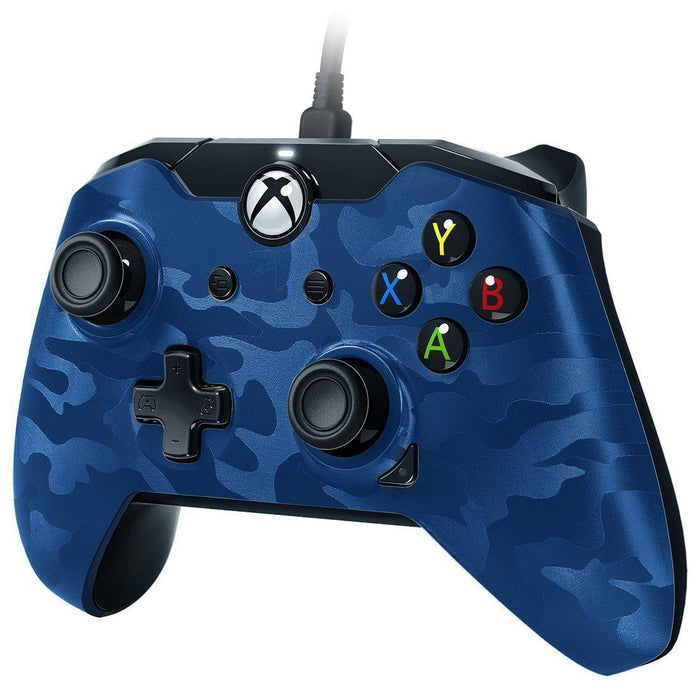 Xbox One Wired Controller Blue Camo-Controller-Bens Toy Chest Ltd