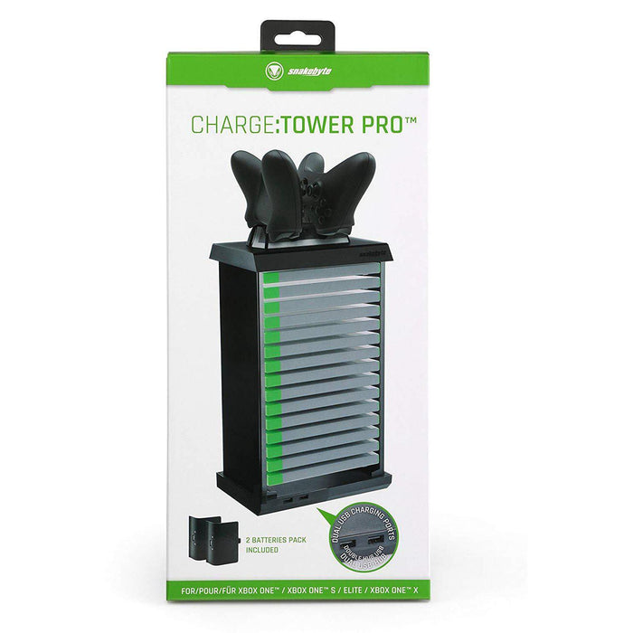 Xbox One Charge Tower Pro Black-Charger-Bens Toy Chest Ltd