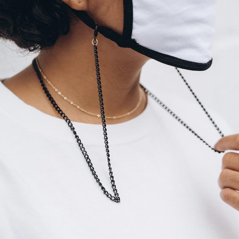 Black Face Mask Chain