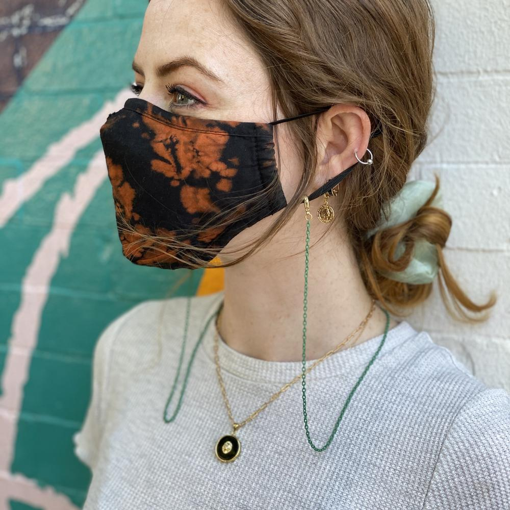 Dainty Green Face Mask Chain – Limited Edition