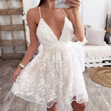 Isabelle Lace Dress | Embroidered