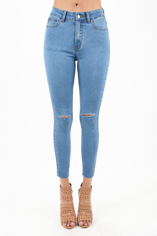 Kara Skinny Jeans | Skinny Jeans Destroyed High Rise Ankle Denim Pants