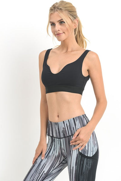 Veronica Sports Bra | Wide Scallop Sports Bra
