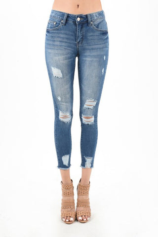 Julie Skinny Jeans | Mid Rise Ankle Skinny Jeans