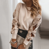 Everly Bowknot Long Sleeve | Cut-out Long Sleeve Sweater
