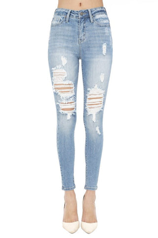 Francine Skinny Jeans | High Rise Ankle Skinny Jeans