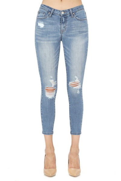 Laila Skinny Jeans | Mid Rise Ankle Skinny Jeans