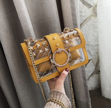 Alani Shoulder Bag | Transparent Jelly Clear Lock Chain