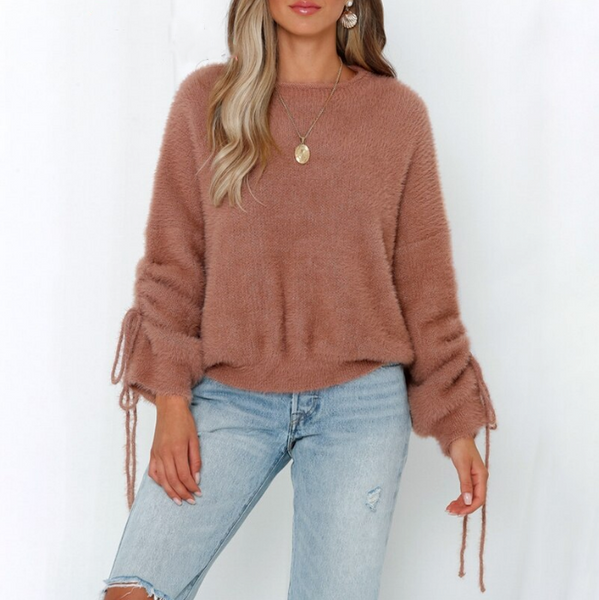 Brylee Sweater | O-neck Knitted Pullover Drop