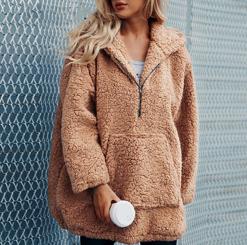 Dahlia Fur Coat | Faux Thick Hooded