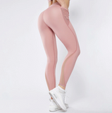 Grace Leggings | Mesh Splice Fitness Side Pocket High Waist Push Up Slim
