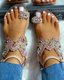 Emani Stone Sandal | Jeweled