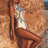 Ivanna One-Piece | Vintage print swimsuits one-piece beach wear Retro bathing suit swimwear bathingsuit