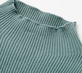 Julia Sweater | Slim Knitted Casual Turtleneck Pullover Jumper