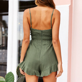 Karter Romper | Sexy Spaghetti Straps Rompers High Waist Cotton