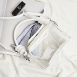 Kinley Shoulder Bag | Transparent Box Square  Small Tote