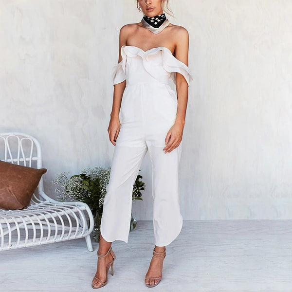 Connie Off Shoulder Jumpsuit | jumpsuit romper casual overalls backless off shoulder black jumpsuit women