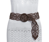 Lola Belt | Bohemian Knitted Wide Hollow Out Woven