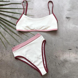 Marie Bikini Set | White high waist women high cut Summer