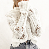Meadow Sweater | Casual Hollow Out Turtleneck