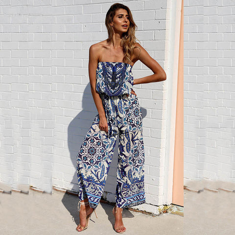 Renee-Boho-Ethnic-Floral-Print-Tube-Top-Jumpsuit