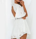 Nya Embroidery Dress | Short Sleeve Flare