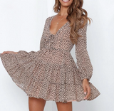 Morgan Ruffle Dress | Mini Leopard Print