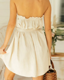 Jordy Ruffle Dress | Short Bow Tie