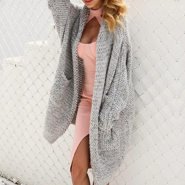 Ellie Knitted Sweater |  cardigan Oversized loose knit cardigan coat jumper