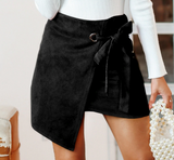 Fallon Suede Skirt | mini skirt Asymmetrical