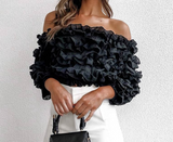 Bali Ruffle Top | Off Shoulder Crop