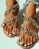 Rio | Vintage Style Beaded Sandals