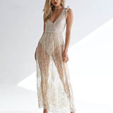 Gira | mesh sequin maxi dress