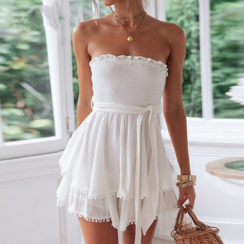 Sara Romper | Playsuit Jumpsuit White