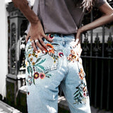 Venia | Floral embroidery jeans