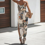 Ky Floral Jumpsuit | Sleeveless Pocketed