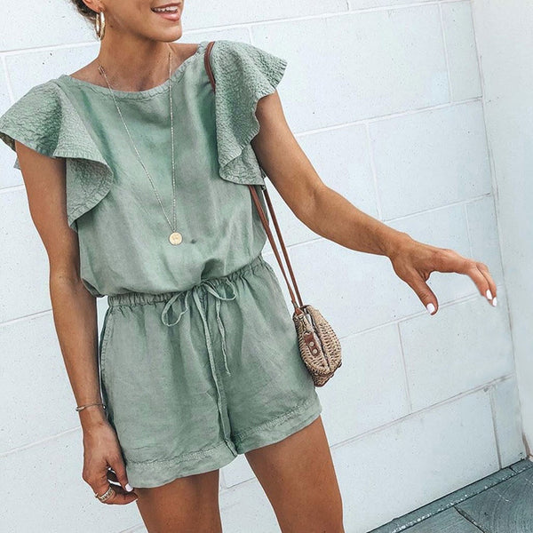 Hannah Ruffled Jumpsuit | Shorts