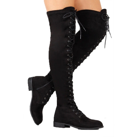 Kelly Knee Boots | Thigh High Boots Winter Shoes Women Boots Warm