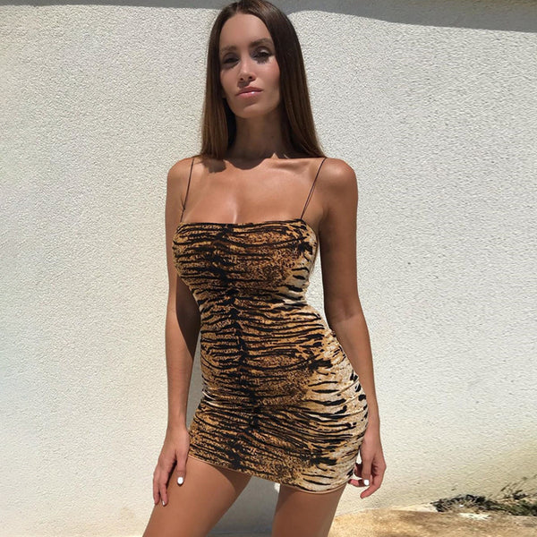Gina Cheetah Dress | Body Con Mini